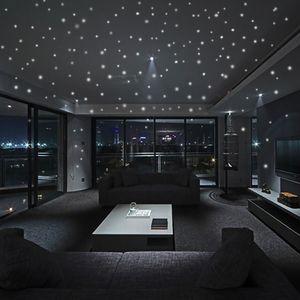 ГОРЯЧИЕ Glow in the Round Dot Dark Star Наклейки Светящиеся Виниловые Наклейки На Стены, Как Звезда Ночью Романтическая Вечеринка День Рождения