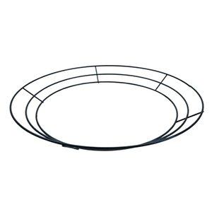 Noel Sevgililer Dekor için Rings Yapımı 3 Boyutları Tel Çelenk Çerçeve Tel Çelenk