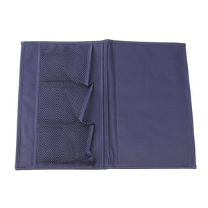 Desk Cabinet Sofa Bed Side Pocket Phone File Sundres Storage Bag Hanging Organizer Navy Blue