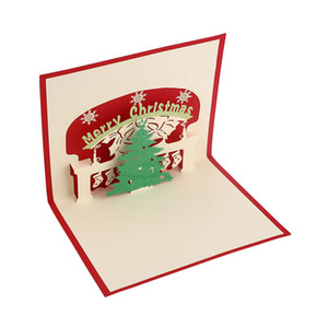 3D Pop Up Hollow Cards Lover Happy Birthday Christmas Greeting Gift Cards