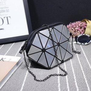 2020 venta caliente de las mujeres de hombro bolsos de diseño geométrico rombo Bolsas para mujeres de la cadena bolsas de mensajero