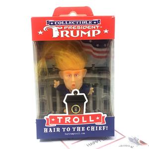 6cm mini-simulation Donald Trump Doll Figurine avec des vêtements Trump fait main ornements Décoration Jouets avec la boîte d'emballage