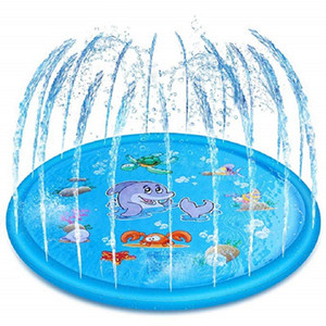 170cm Kids Sprinkler Pad Mat Children Summer Outdoor Water Splash Play Mat Lawn Inflatable Sprinkler Cushion Toy Fast Shipping
