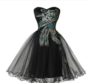 New Off the Shoulder Organza Short Prom Homecoming Dress Lace Appliques Graduation Gown Cocktail Party Gown QC367