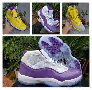 11 Zapatos WMNS metálico amarillo de plata de los hombres de baloncesto Lakers 11s Jumpman púrpura blanca del diseñador para hombre de las zapatillas de deporte Deportes Trainer