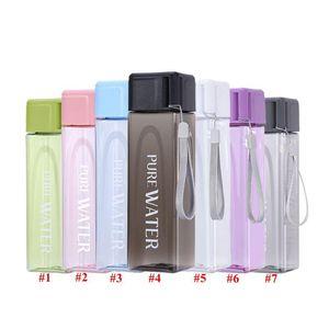 في الهواء الطلق المحمولة زجاجة المياه القدح 17oz المياه الرياضة ساحة الموضة شفافة كؤوس سعة كبيرة زجاجات المياه البلاستيكية كأس DHD609