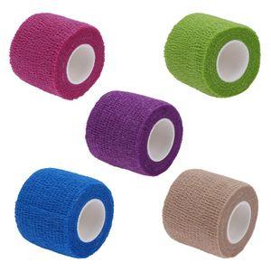 blend promoção 1Roll Cotton auto-adesivo elástico aderente coesa Enrole Dedo Bandage concurso fita auto aderindo vara Bandage