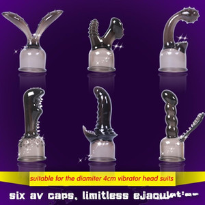 6pcs силиконовых насадок для Magic Wand мягких силиконовых колпачков вибраторов, аксессуары секса продуктов взрослых игрушек для женщин