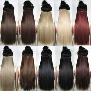 heap Synthetic Clip-in One Piece S-noilite clip in Hair Extensions Black Brown Natural Straight 58-76cm Long High Tempreture Synthetic Ha...