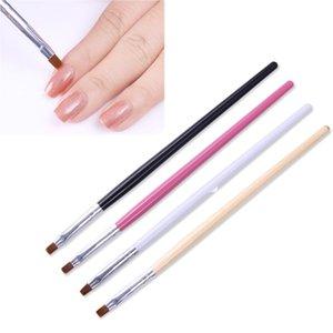 1 قطعة مسحوق الغبار نظيفة مسمار فرشاة القلم شقة إهاب تنظيف فرشاة الخشب مقبض الاكريليك مانيكير uv gel nail art أداة