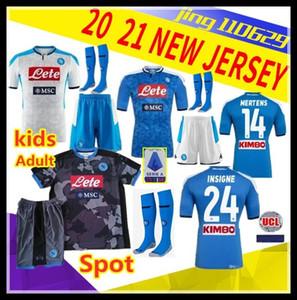 crianças kit Adult 19 camisa de futebol Início 2019 camisas de futebol 2020 Nápoles ZIELINSKI Hamsik INSIGNE MERTENS CALLEJON PLAYER ROG 20 napoli