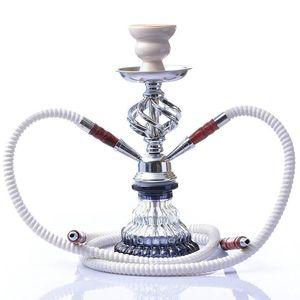 Arab Hookah Set Finito Doppio prodotto Tubo fumare narghilè Accessori Water Tool fumo di pipa di vetro Bong Shisha