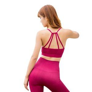 Nuovo yoga di forma fisica di sport reggiseno comodo respirabile di bellezza Indietro Bra avvolgenti esecuzione anti-shake intima Sport / 30