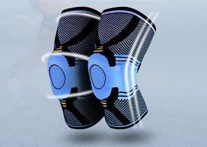 Баскетбол коленного бандажа сжатия колено поддержка рукав травмы восстановления волейбол фитнес спорт безопасность Спорт защита передач