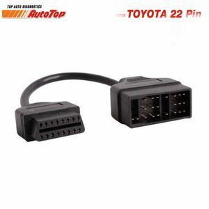 Top OBD2 Cable adaptador para 22Pin a 16Pin OBD adaptador a OBDII conector para 22 Pin ODB2 Cable Corolla