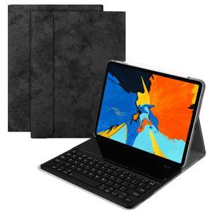 Súper delgada desmontable extraíble separó abs inalámbricas Bluetooth caja de cuero cartera de teclado para el iPad Pro 11 2018