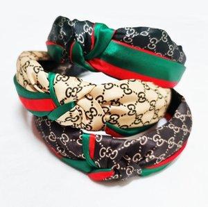 Оголовье мода девушки Винтаж вязать витой узелковое письмо повязка на голову волосы носить