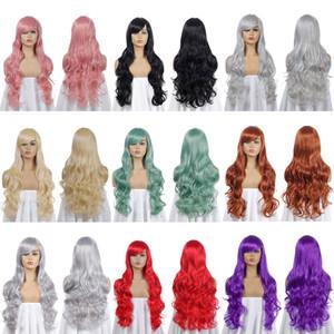 Hot vente Anime Cos perruque en Europe et en Amérique du Hot Hot vente de vente Couleur Universal 80cm longue perruque cosplay cheveux jeu de rôle