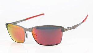Iridium Qualität Designer Brillen Sonnenbrillen OO4083 Mens / der Frauen hoch polarisiert Metall Brillen Schwarz Tinfoil Sports Feuer Luxus Jnia