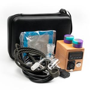 Enai Eléctrica Dab prego Rig kit de controlo de temperatura de madeira caixa 14 milímetros macho prego bange quartzo para cachimbo de água de vidro