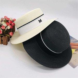 Carta de praia M Cap Verão designer de moda de rua Chapéus Gorros para a mulher Adjustable Caps Hat Womens Praia Brim Hat