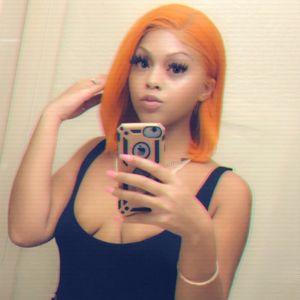 Parrucca Orange Colored umani Lisci Corti Bob parrucca anteriore del merletto Estate Pixie Cut Blunt brasiliano Remy parrucca per Black Women
