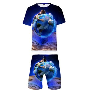 Hot Sales 2019 New Style Hot Sales Lil Dicky Earth Digital Printing Shorts Set