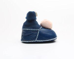 2020 NUEVA muchacha del bebé caliente botines del invierno de la felpa suave del niño recién nacido Botas Calzado infantil de la historieta zapatos del bebé de 0-1 años 12CM