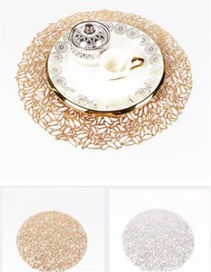 Coaster rodada de isolamento Napperons Pads Plastic Tabela Placemat antiderrapante Mats Coffee Tea Lugar Mats Cozinha Decoração