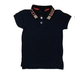 Nouveau tout-petits enfants Polo manches courtes d'été Hauts bébé shirt filles enfants T-shirt de marque Tag Lettre Collier Haut