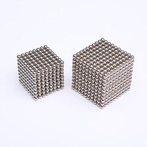 3 mm 5 mm 512pcs 1000pcs boules magnétiques Neo Cube avec boîte en métal Metaballs aimant Neodymium Puzzle