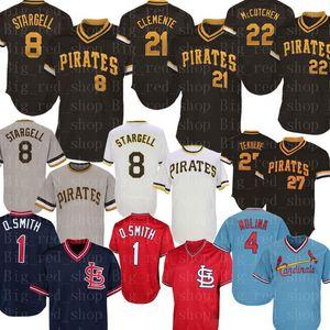 8 Willie Stargell Jersey Roberto Clemente Starling Marte Francisco Cervelli Kent Tekulve Yadier Molina Ozzie Camisetas de béisbol