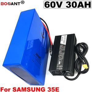 60 V 30AH E-bike bateria de lítio para 1500 W 2500 W Motor 60 V bateria de bicicleta elétrica para Samsung 35E 18650 + 5A carregador frete grátis