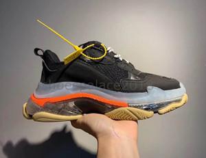 Флэш-Deal Париж 2019 Кристалл Bottom Triple-S Досуг обувь папа обувь Платформа Тройной кроссовки для мужчин Женщины Chaussure