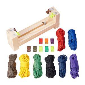 Bracelet Maker with Parachute Cord Paracord Braiding Weaving DIY Craft Tool Kit Outdoor emergency umbrella rope bracelet DIY bra
