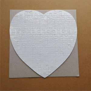 caldo di trasferimento di sublimazione bianco perla luce puzzle cercapersone amore cuore forma di puzzle Consumabili per stampa vuoti bambino giocattoli doni PUN01