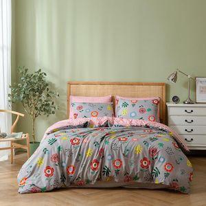 2 3 Pcs Monet Garden Double Bed Linings Bedding Set Various Flowers Plants Quilt Cover Pillowcase Kids Lattice Bed Quilt Cover