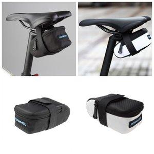 ROSWHEEL الثابتة والعتاد Fixie الطريق دراجة دراجة MTB السرج المقعد الخلفي Seatpost الدراجات الذيل الحقيبة حزمة حقيبة أبيض / أسود