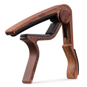 Wood Grain Metal Guitar Capo with Perfect Silicon Cushion for Guitar Ukulele Tuning Musical Instrument Accessories