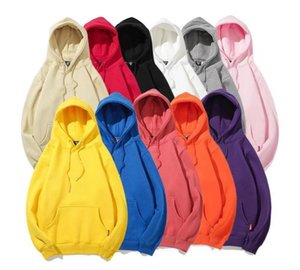 Casual Fleece Sweater Autumn Winter Thickened Solid Color Hooded Sweater Sweatshirts Cashmere Hoodies Long Sleeves for Men Women