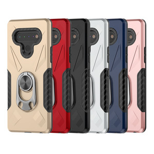 Per LG Stylo 6 K51 K91 antiurto Admiral squillo del telefono di caso per Motorola Moto G8 Giocare G8 Inoltre TPU + metallo mobile della copertura della cassa D1
