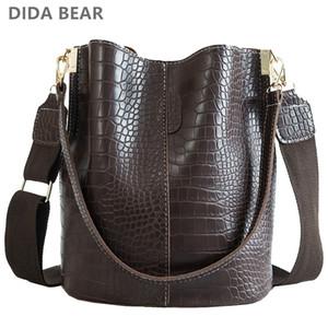 Donne Borse di cuoio di lusso DIDA BEAR coccodrillo Crossbody per la spalla del progettista di marca della benna della borsa T200102 s
