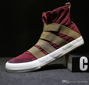 Sports & Outdoors Shoes Fashion high-top canvas shoes Comfortable fashion high-quality casual men's youth street dance shoes A61