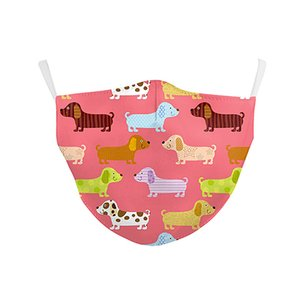 Cute pattern design printing with filter, water washable and dust-proof three-layer non-woven mask, all kinds of styles can be ordered
