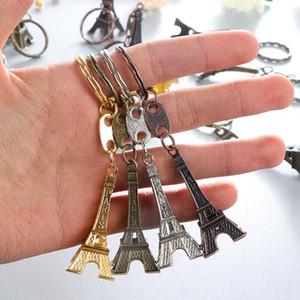 500 pcs / lot Mode Classique Français France Souvenir Paris 3D Tour Eiffel Keychain Porte clés chaîne livraison gratuite