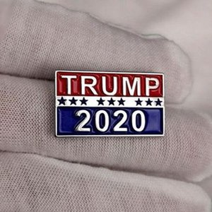 Trump 2020 Designer Brooches For Presidential Election Alloy Brooches Pins Women Men Brooches geometric Gifts LJJJ130