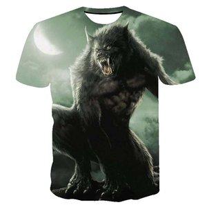 T shirt men Tiger Cat t shirts for men camiseta 3D Style streetwear graphic Lion Wolf tshirt Powerful Animal