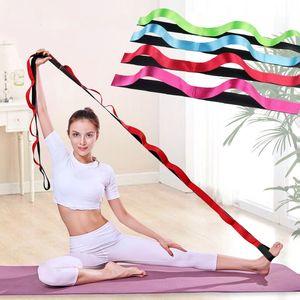 longueur 270cm Yoga Pull Ceinture Sangle Polyester Latex étirement élastique bande boucle Yoga Pilates Gym Fitness Bands exercice