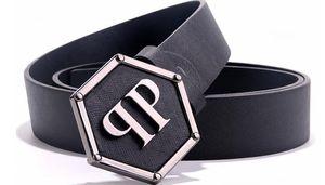 correa de cuero de la marca P correa masculina del cuero auténtico Cinturones negros Hombres Cinturones de moda de lujo hombre Ceinture Casual cinturones de negocios de jóvenes muchachos