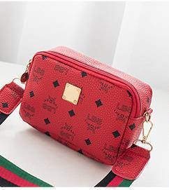 디자이너 여성 가방 와이드 스트랩 패션 스퀘어 가방을 어깨 2020 핫 인쇄 작은 가방 하나 어깨 대각선 카메라 가방